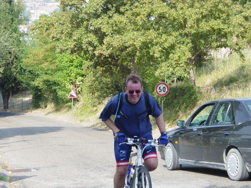Rob climbing to Todi original