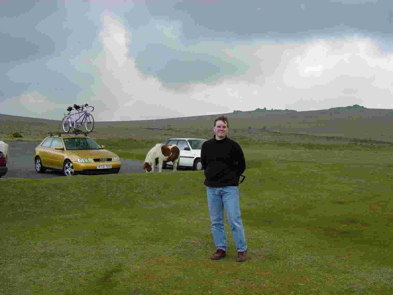 Rob and Barney Dartmoor April 2003 low res