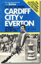 Cardiff City v Everton 1977
