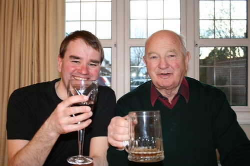 Bob and Rob celebrate Cardiff City's FA Cup semi final win