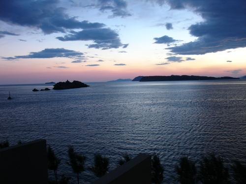 Dusk over the Dubrovnik coast