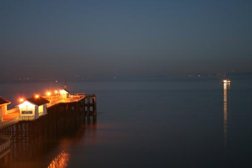 Penarth Pier as winter's dusk falls